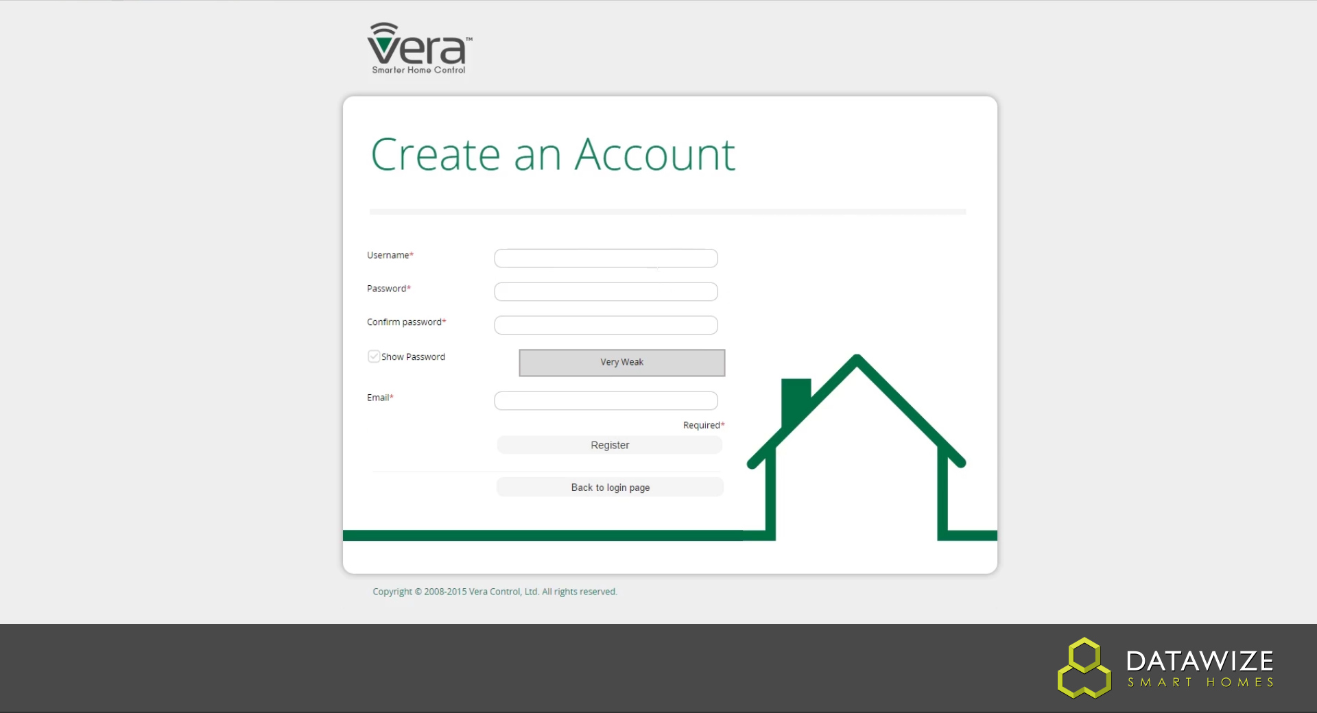 How to Setup a VeraEdge - Creating an account